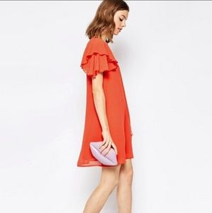 ASOS Dresses - Asos flutter sleeve shift dress